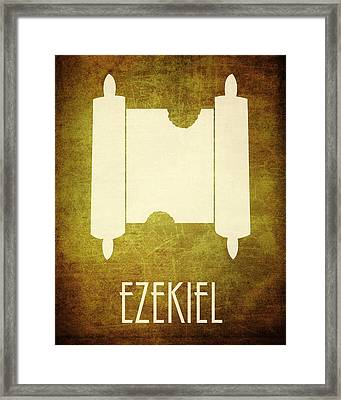 Ezekiel Icon Bible Minimal Art Framed Print by Brett Pfister
