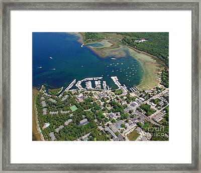 F-001 Fish Creek And Harbor Door County Wisconsin Framed Print by Bill Lang