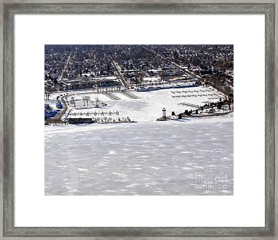F-002 Fond Du Lac Wisconsin Harbor Winter Framed Print