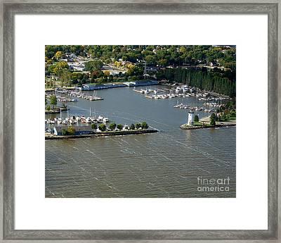 F-003 Fond Du Lac Wisconsin Harbor Framed Print
