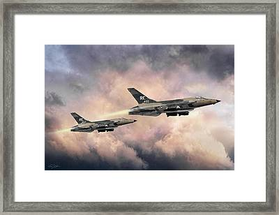 F-105 Thunderchief Framed Print by Peter Chilelli