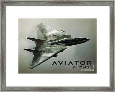 F-14 Tomcat Fighter Jet Framed Print by Fernando Miranda