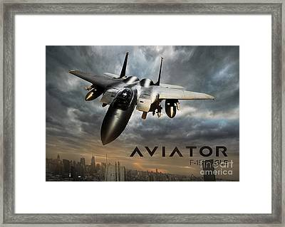 F-15 Eagle Fighter Jet Framed Print by Fernando Miranda