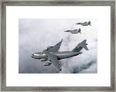 F-15b Eagles Escort The First Framed Print