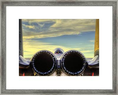 F-15e A Rear End That Is True Art Framed Print by JC Findley