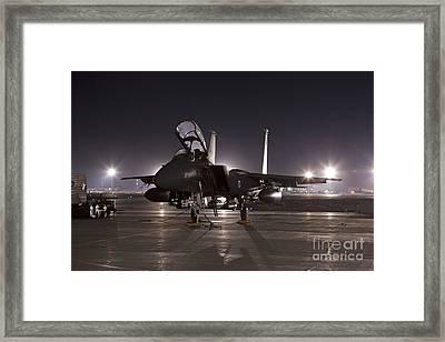 F-15e As A Rock Star Framed Print by Tim Grams