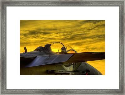 F-15e Sunset Framed Print