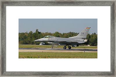 F-16 Falcon Framed Print by Donald Tusa