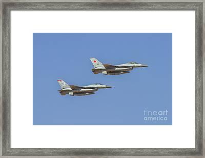 F-16 Fighting Falcon At Al Ain Air Show, Uae Framed Print