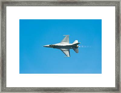 F-16 Full Speed Framed Print by Sebastian Musial