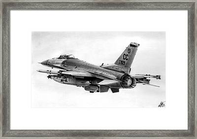 F-16 Framed Print by Lyle Brown