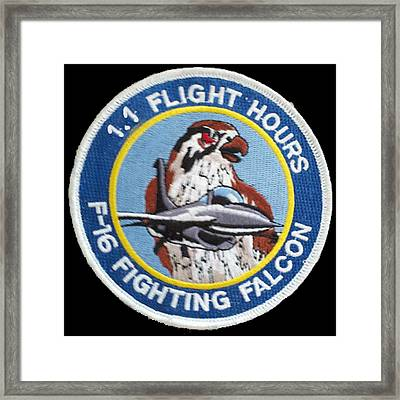 F-16 Ride Patch Framed Print