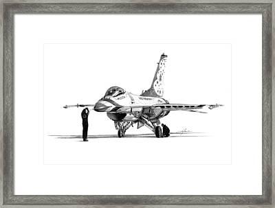 F-16 Thunderbird Framed Print by Dale Jackson