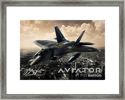 F-22 Raptor Fighter Jet Framed Print by Fernando Miranda