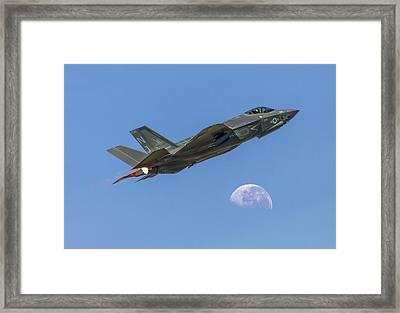 F-35 Shoots The Moon Framed Print