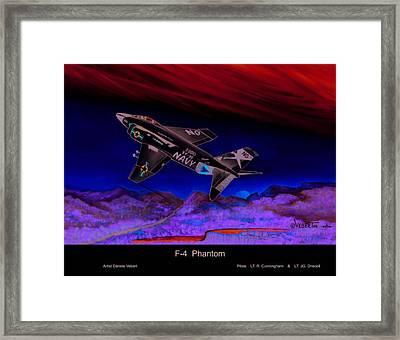 F-4 Phantom Framed Print by Dennis Vebert