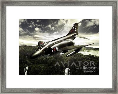 F-4 Phantom Fighter Jet Framed Print by Fernando Miranda