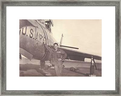 F-84f Thunderjet 1955 Framed Print
