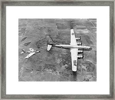 F-84f Thunderstreak Refueled Framed Print