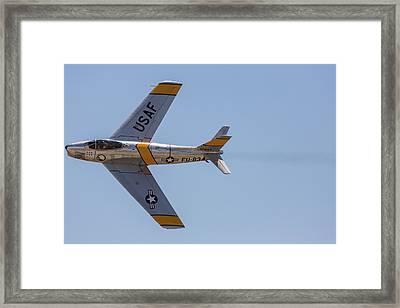 F-86 Jolley Roger Framed Print