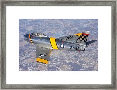 F-86 Sabre Flying 1 Framed Print