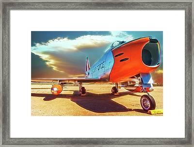 F-86 Sabre Jet Framed Print