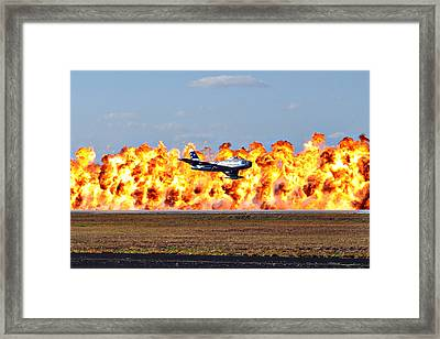 F-86 Wall Of Fire Framed Print by Mark Weaver