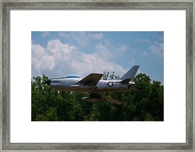 Framed Print featuring the digital art F-86l Sabre by Chris Flees