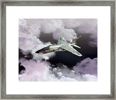 F-8e At Kilo Marshall Framed Print
