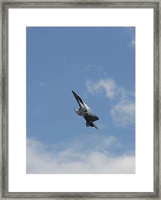 Airplanes Framed Print featuring the photograph F/a-18 Fighter Fast Climb by Aaron Berg