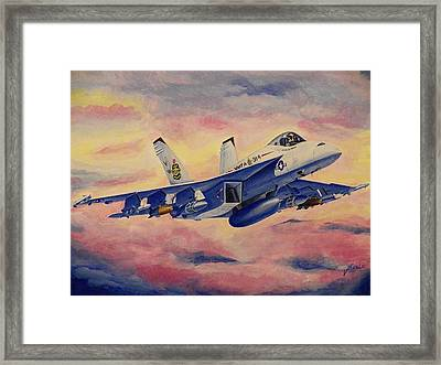 F/a-18 Fighter Framed Print by Jim Reale