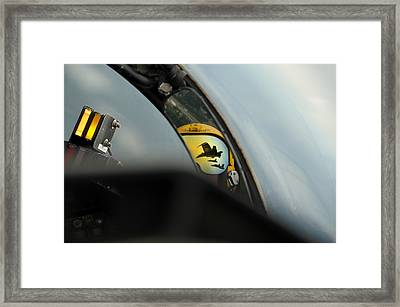 F A-18 Hornets Flying In The Delta Formation Framed Print by Celestial Images