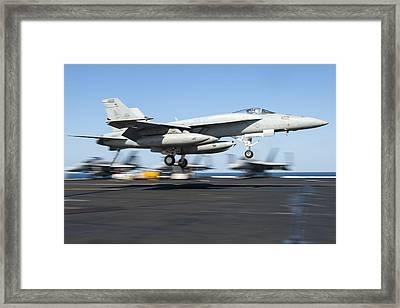 F A-18 Super Hornet Us Navy Framed Print by Celestial Images