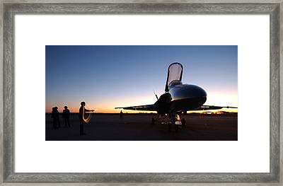 F A-18a Hornet Us Navy Framed Print by Celestial Images