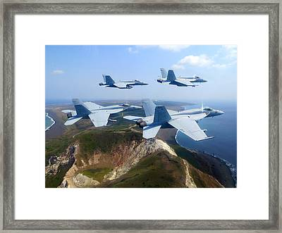 F A-18e Super Hornets  Framed Print by Celestial Images