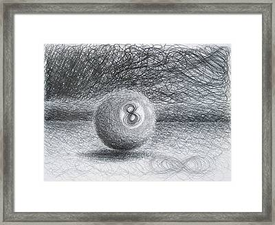F. Eight Ball No. 2 Framed Print