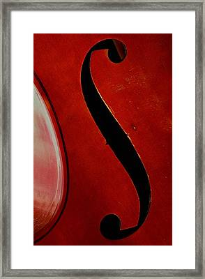 Framed Print featuring the photograph F Hole by Chris Berry