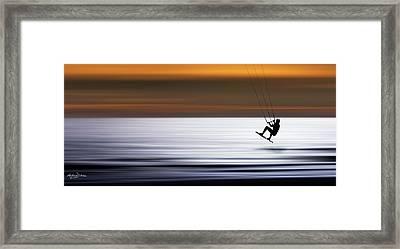 F L Y I N G Framed Print by Andrew Dickman