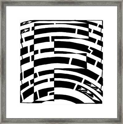 F Maze Framed Print by Yonatan Frimer Maze Artist