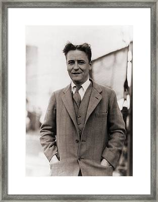 F. Scott Fitzgerald, 1896-1940 In 1928 Framed Print by Everett