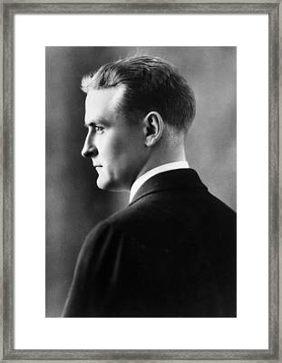 F. Scott Fitzgerald Circa 1925 Framed Print by David Lee Guss