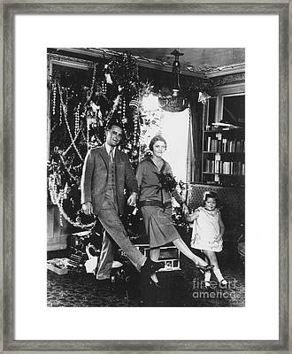 F. Scott Fitzgerald Family Framed Print by Granger