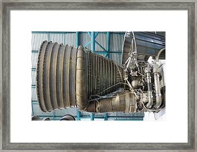F1 Engine On The Saturn V Rocket Framed Print