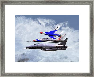 Framed Print featuring the digital art F100 0-41787 Njang 001 by Mike Ray