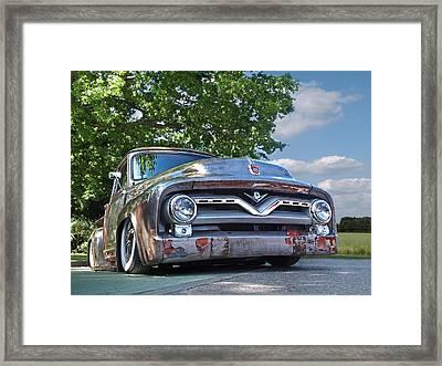 F100 Chillin' Framed Print by Gill Billington