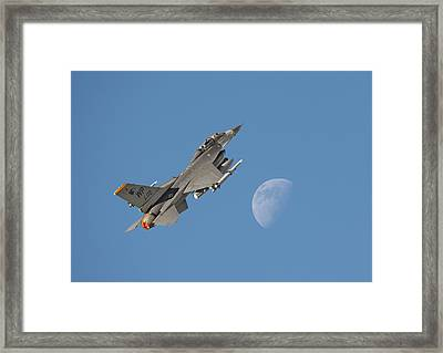 Framed Print featuring the photograph F16 - Aiming High by Pat Speirs