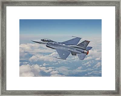 F16 - Fighting Falcon Framed Print by Pat Speirs