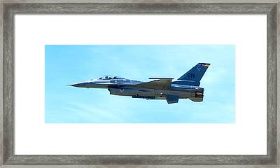 F16 Framed Print by Greg Fortier