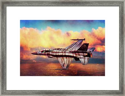 Framed Print featuring the photograph F16c Fighting Falcon by Chris Lord