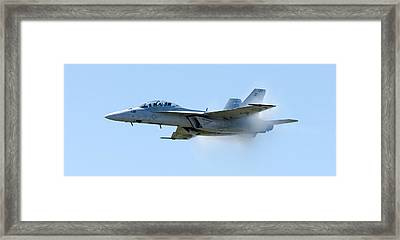 F18 - Barrier Framed Print by Greg Fortier